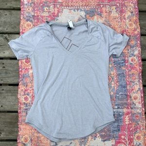 Adidas grey graphic t shirt